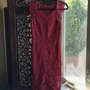 Free People Maroon Lace Dress